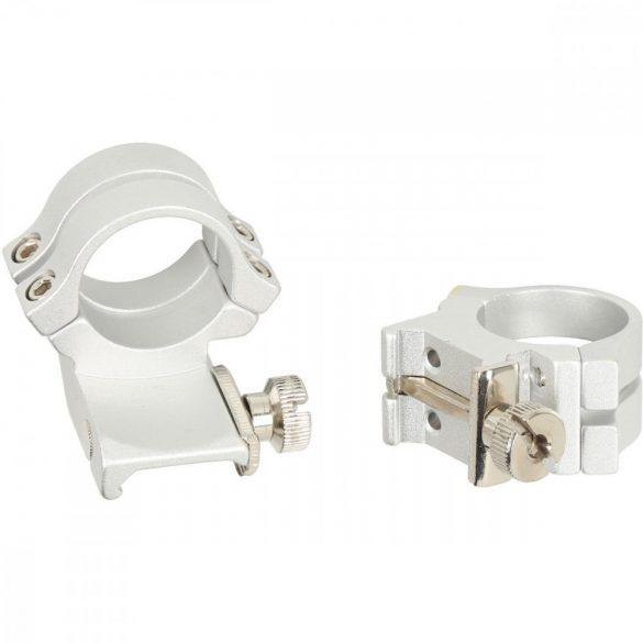 "Inele Weaver Quad Lock 1"" deplasat inalte Weaver Silver"