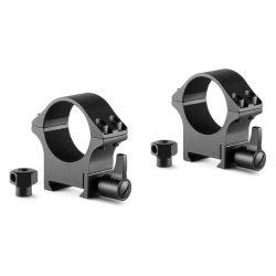 Inele Hawke Professional 30 mm, Weaver, medii, otel, detasabile