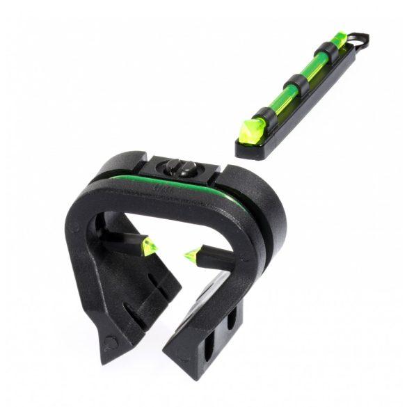 Catare cu fibra optica pentru arme de vanatoare cu sina ventilata HiViz TriViz Combo